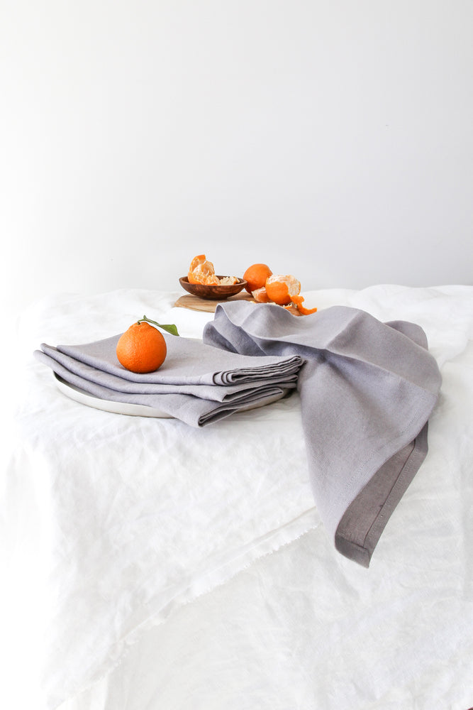 PEWTER LINEN NAPKIN SET (SET OF 4)