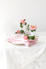 PINK LINEN NAPKIN SET (SET OF 4)