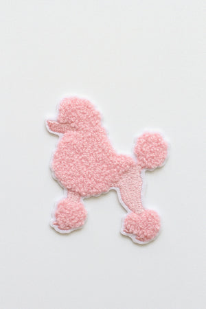 PINK POODLE CHENILLE PATCH