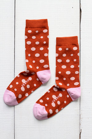 LUCY DIAGONAL DOTS CREW SOCKS
