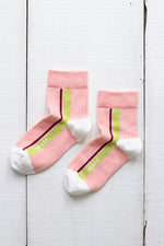DANI SIDE STRIPES 1/4-CREW SOCKS