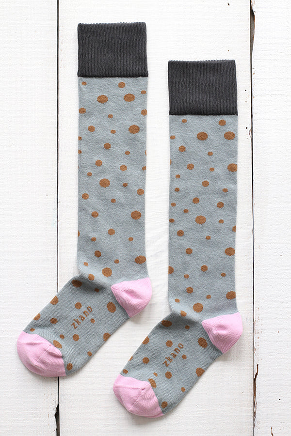 Stella Diagonal Dots Knee Socks