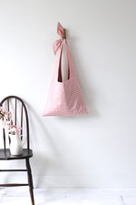 Lycée Tie Top Reversible Bag in Pink