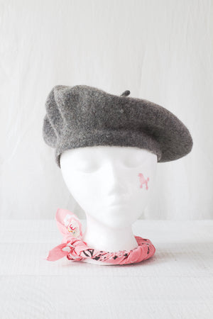 Wool Beret in Grey