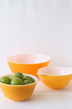 Vintage Orange Pyrex Mixing Bowls (3)