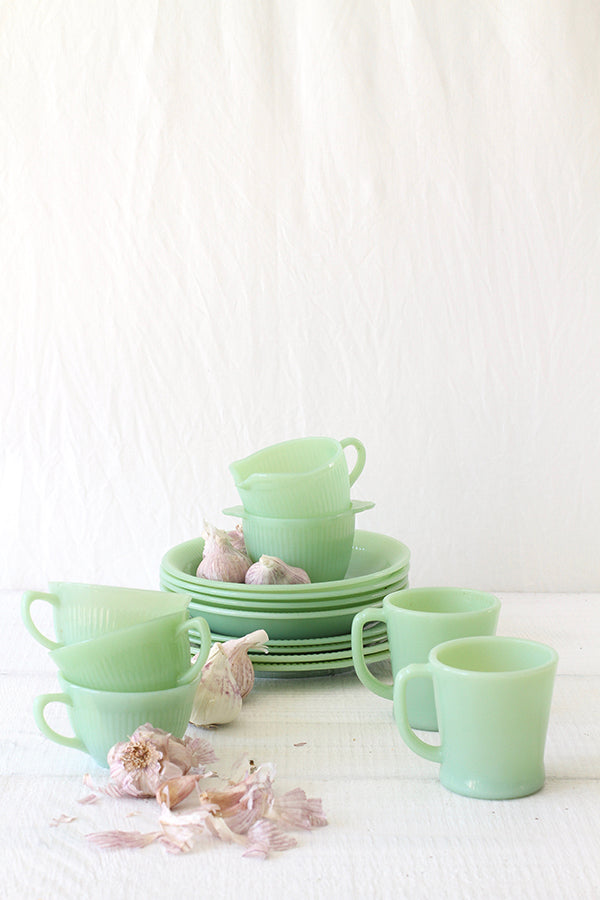 Vintage Fire-King Jadeite Collection (15 pieces)
