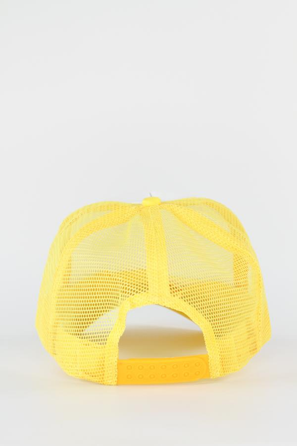 Yellow Smiley Trucker Hat