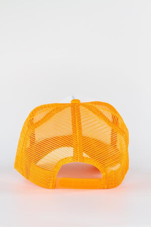 Orange Smiley Trucker Hat