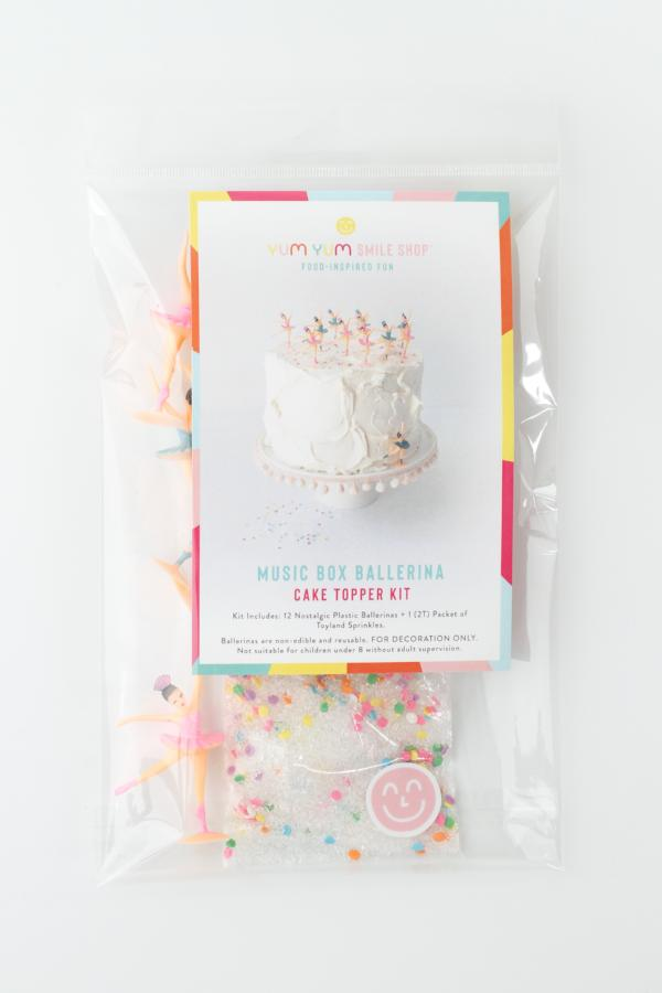 Music Box Ballerina Cake Topper Kit
