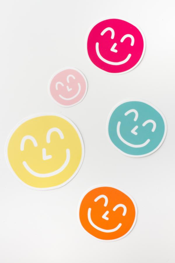 Yum Yum Smiley Face Sticker Pack