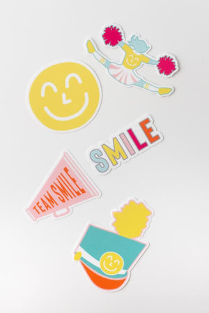 Team Yum Yum Smile Shop Varsity Cheerleading Drum Majorette Sticker Pack