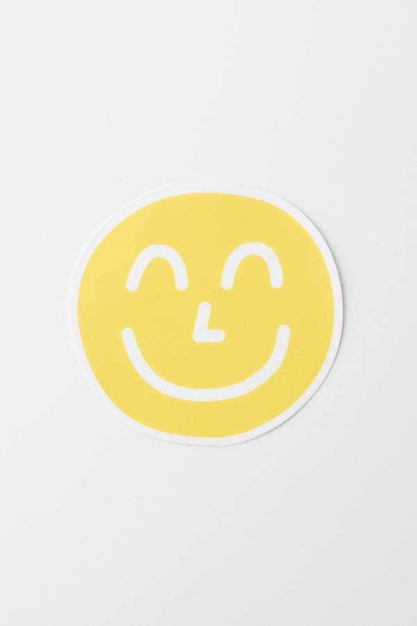 "4"" Yum Yum Smiley Face Sticker"