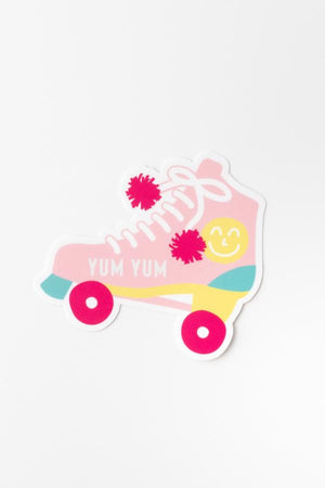 Yum Yum 70's Inspired Nostalgic Rollerskate Durable Die Cut Sticker