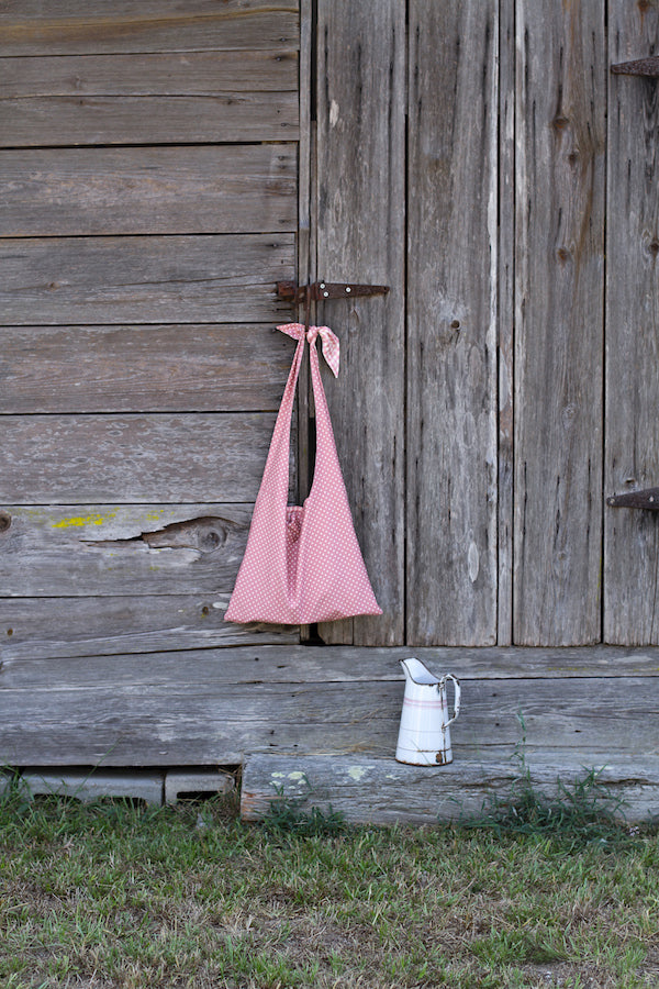 LYCEE TIE TOP REVERSIBLE BAG IN PINK