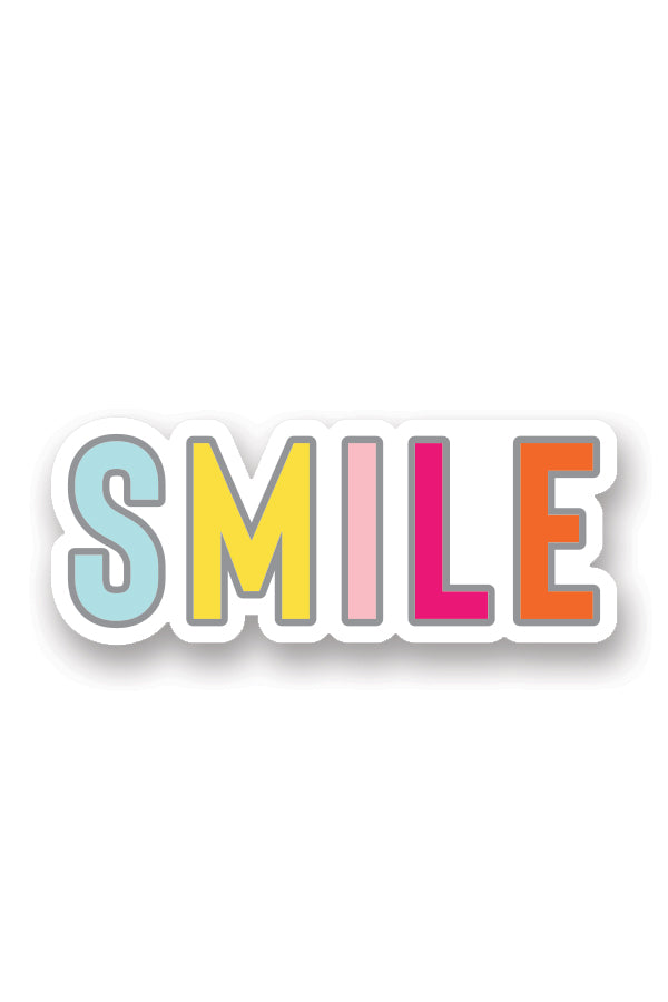 Team Yum Yum Smile Shop Varsity Cheerleading and Band Sticker Set SMILE Text