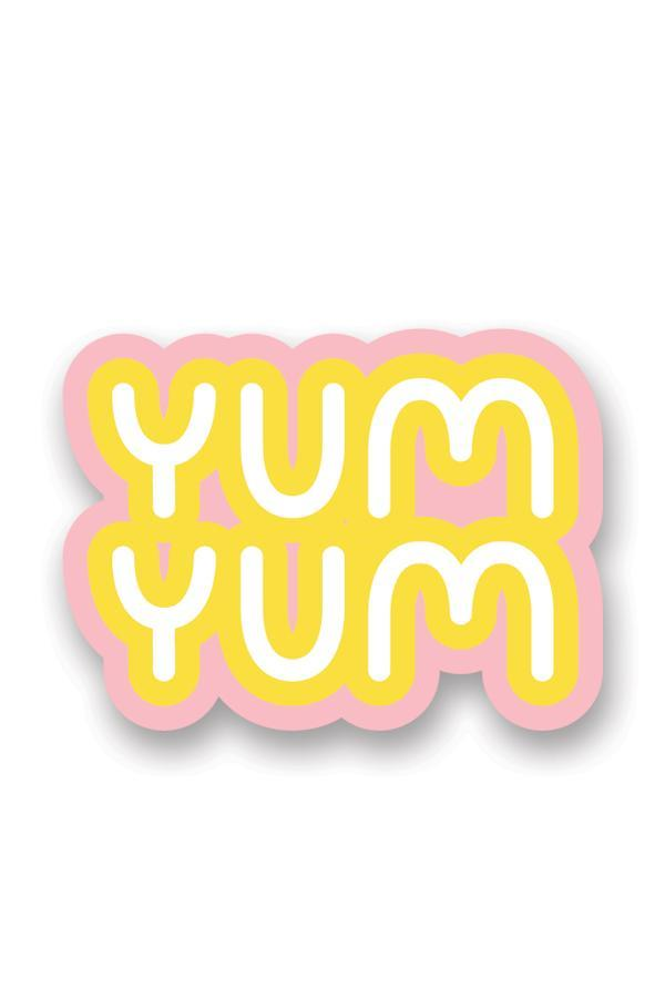 Yellow Yum Yum Smiley Face Nostalgic Sticker