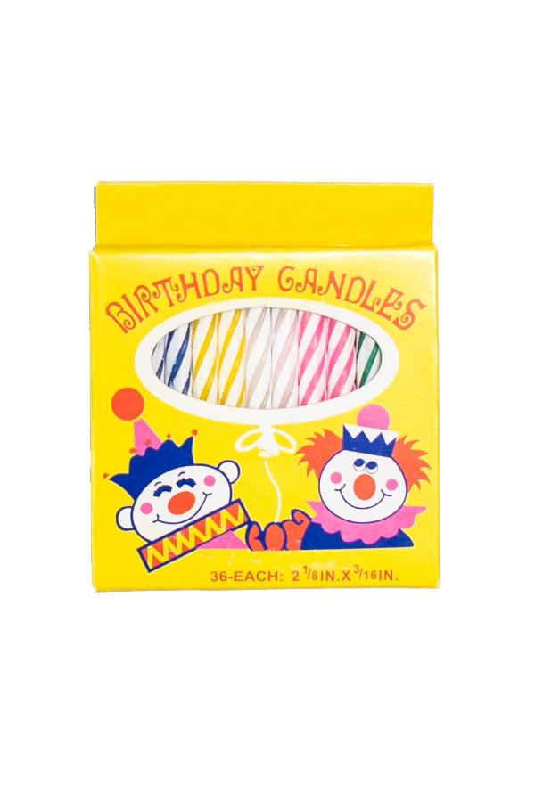 36 Yum Yum Birthday Candles