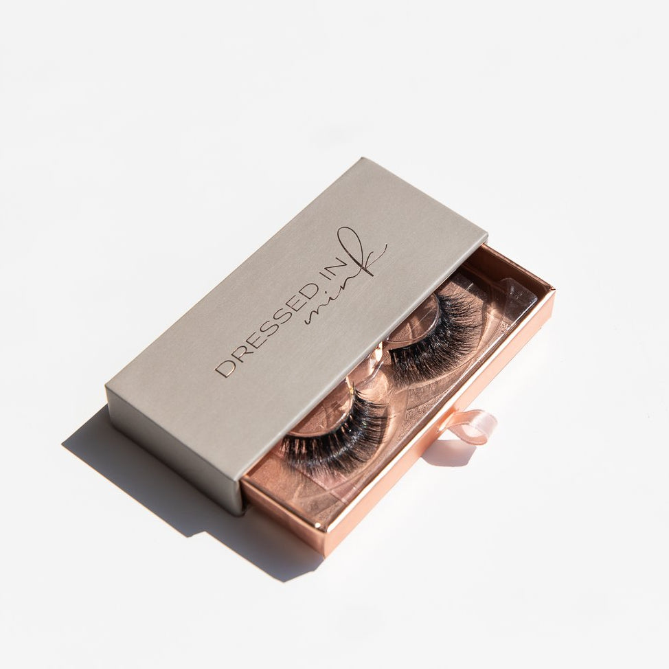 Dressed In Mink Lashes Beautiful Pastel Packaging
