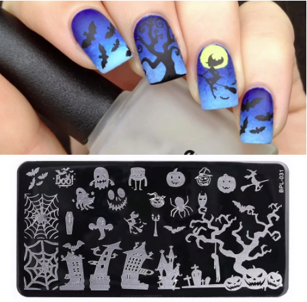 Aa Halloween Nail Stamping Plate