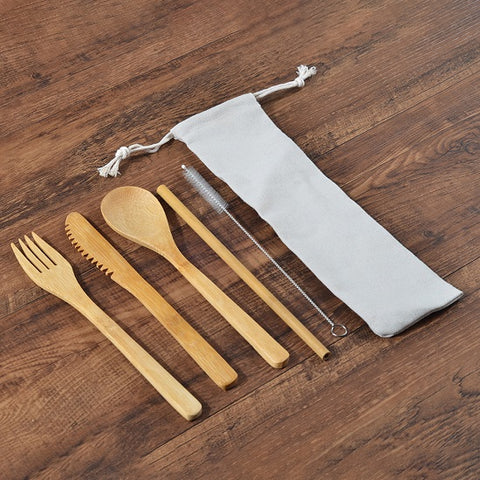 Eco Cutlery™ - Bamboo Dinner Set