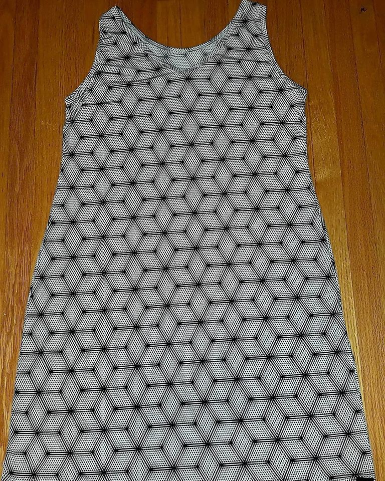 Print Tank Dress Op Art