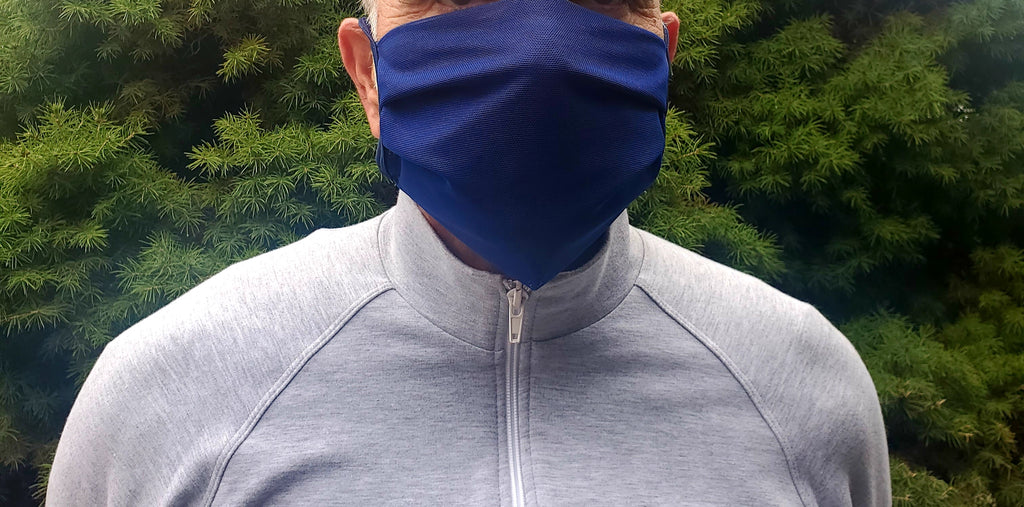 Mesh Face Covering Navy