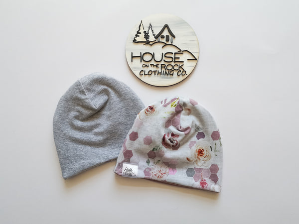 Reversible Hat- Floral Honeycomb