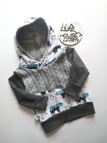 Grow sweater- Watercolour Bears Hoodie