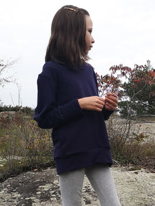 Basics Grow Sweater- Purple Hoodie