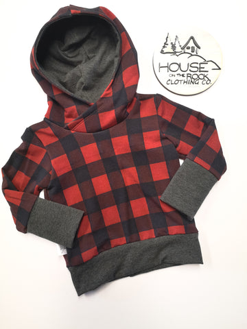 Grow sweater- Plaid Hoodie