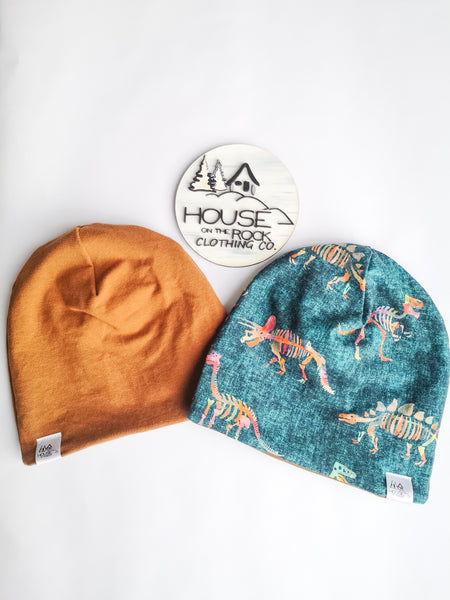 Reversible Hat- Dinos and camel