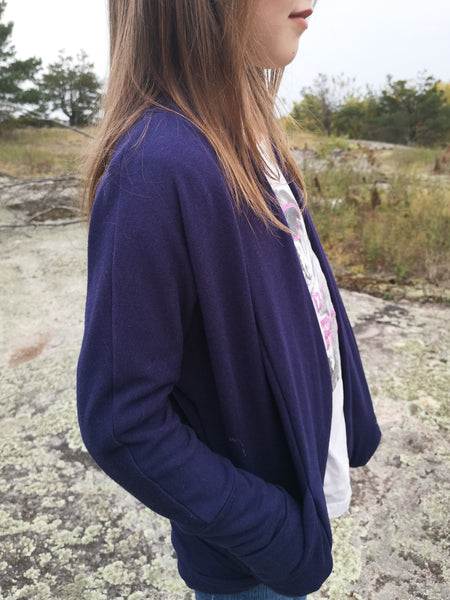 Basics Grow Cardigan-Purple