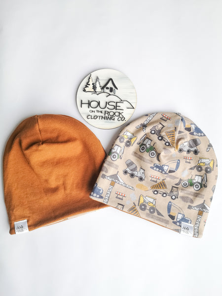 Reversible Hat- Construction Crew and camel