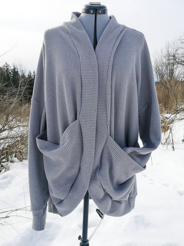 Ladies Cocoon Cardigan - Grey