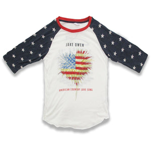 American Country Love Song Raglan