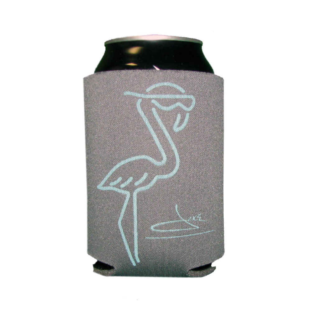Flamingo Gray Drink Koozie