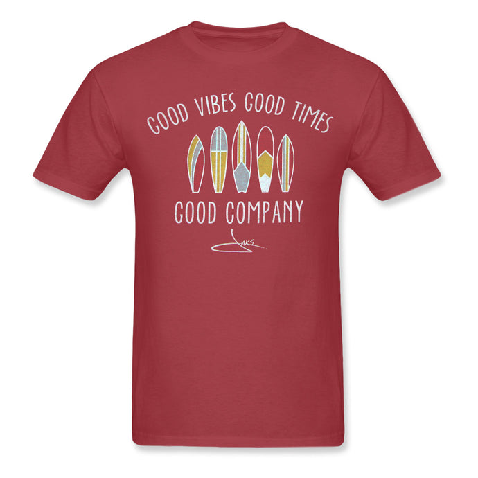 Good Vibes Heather Red Tee