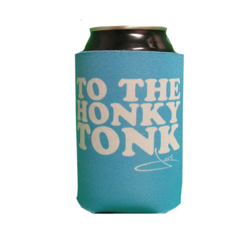 Go Down To The Honky Tonk Blue Can Cooler