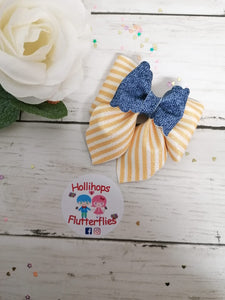 Double Hailey Pinstripe Bow