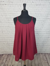 Load image into Gallery viewer, Cabernet Pleated Cami with Adjustable Straps - Harp & Sole Boutique