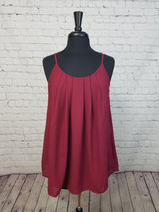 Cabernet Pleated Cami with Adjustable Straps - Harp & Sole Boutique