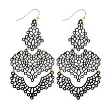 Load image into Gallery viewer, Filigree Drop Earrings - Harp & Sole Boutique