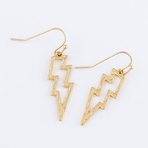 Lightning Bolt Drop Earrings - Harp & Sole Boutique