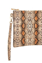 Load image into Gallery viewer, Snake Skin Wristlet