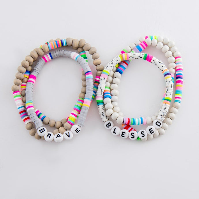 Fun Stretchy Bracelets with Bright Beads - Harp & Sole Boutique