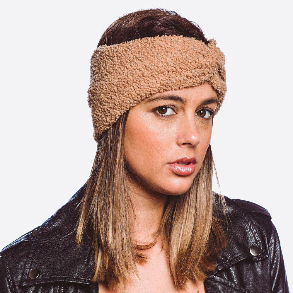 Sherpa Fleece Twist Headband - Harp & Sole Boutique