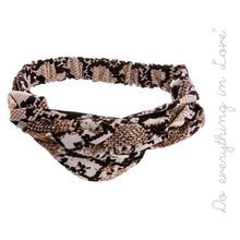 Load image into Gallery viewer, Snake Skin Knotted Headband - Harp & Sole Boutique