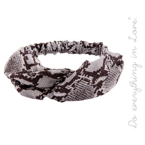 Snake Skin Knotted Headband - Harp & Sole Boutique