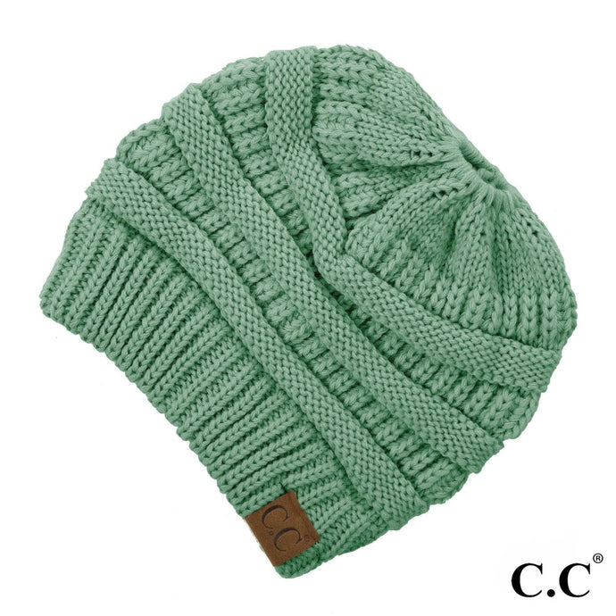 Sage Messy Bun Beanie - Harp & Sole Boutique