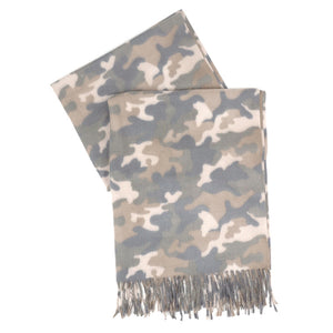 Camo Scarf with Fringe - Harp & Sole Boutique